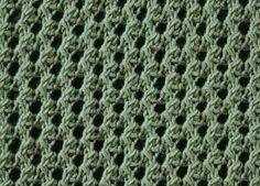 thick eyelet mesh stitch, suitable for light throws or other types of homeware, summer knitware etc.
