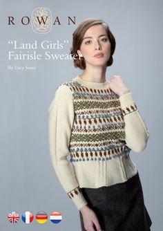 Land Girl's Fairisle Sweater in Rowan Pure Wool 4 Ply