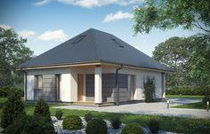 Skierowany do naszych klientów, szukających niewielkiego, nowoczesnego domu parterowego z możliwością adaptacji nieużytkowego poddasza Gazebo, House Plans, Outdoor Structures, Outdoor Decor, Modern Houses, Home Decor, Houses, Facades, Projects