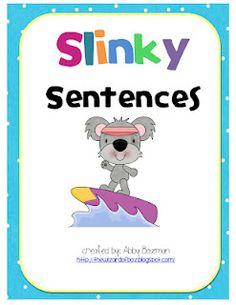 FREE center activity: Writing super sentences...Cute!