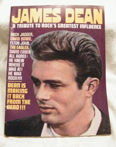 James Dean lovers--this is for you--wonderful assortment of pictures and facts---published condition Vintage Hollywood, In Hollywood, James Dean Photos, Rock Around The Clock, Jimmy Dean, Movie Magazine, Dark Photography, American Idol, Dream Guy