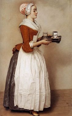 Étienne Liotard, The Chocolate Girl - 1744-45, Pastel on parchment, 82,5 x 52,5 cm, Gemäldegalerie, Dresden