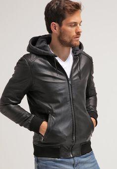 Oakwood JIMMY - Leather jacket - noir - Zalando.co.uk