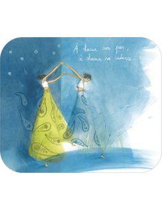 "Anne-Sophie Rutsaert carte postale""A chacun son pas..."""