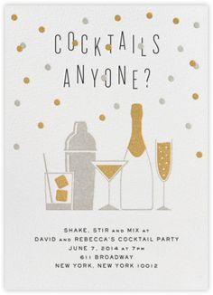 Cocktails Anyone? Free online custom invitations from  Paperless Post I Crate and Barrel