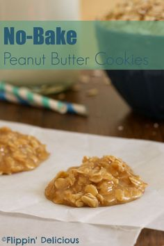 Sweet, chewy, and peanut buttery, no-bake cookies are an easy treat and they are gluten-free too. Gluten Free Deserts, Best Gluten Free Recipes, Gluten Free Sweets, Allergy Free Recipes, Gf Recipes, Foods With Gluten, Gluten Free Baking, Food Network Recipes, Dessert Recipes