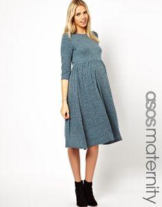 Image 1 ofASOS Maternity Midi Dress In Neppi