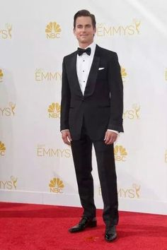 """See the 2014 Emmy Awards' Best Dressed Men """" Then there's Matt Bomer, who could wear gym shorts and a tee to the Emmys and still look smokin' hot. Fortunately for us, he rocks a classic black Tom Ford. Matt Bomer White Collar, The Normal Heart, Classic Tuxedo, The Emmys, Best Dressed Man, Tuxedo For Men, Black Tuxedo, Red Carpet Looks, Celebs"""