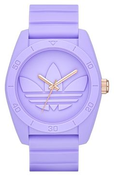adidas Originals 'Santiago' Silicone Strap Watch, 42mm | Nordstrom