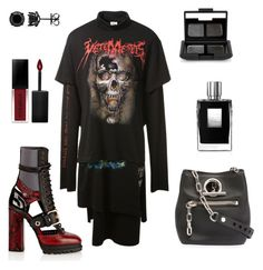 """""""Untitled #736"""" by elizabeth-buttery ❤ liked on Polyvore featuring Vetements, Burberry, Alexander Wang, By Kilian, Smashbox and NARS Cosmetics"""