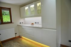 Control the look and feel of your under kitchen cabinet lighting with colour changing LED strip.    http://www.downlightsdirect.co.uk/led-strip.html