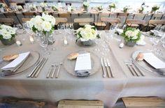 natural looking table cloth