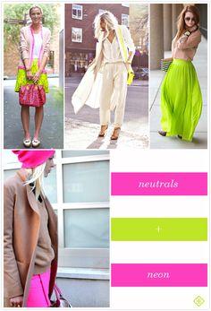 Color Crush:  Neutrals + Neon