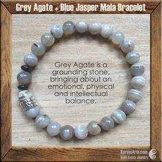 ACCEPTANCE: Agate + Jasper Yoga Mala Bracelet