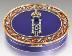 An Imperial Presentation jewelled gold and enamel box, Carl Blank for Hahn, St Petersburg, 1899-1908   lot   Sotheby's