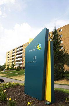 Pylon Signage, Monument Signage, Entrance Signage, Wayfinding Signs, Outdoor Signage, Exterior Signage, Standing Signage, Retail Signage, Office Signage