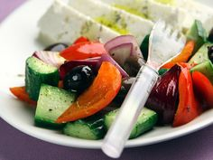 Lämmin kreikkalainen salaatti