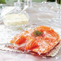 Jääkellarilohi ja konjakki-sinappikastike Spanakopita, Camembert Cheese, Salt, Ethnic Recipes, Drinks, Pictures, Drinking, Photos, Beverages