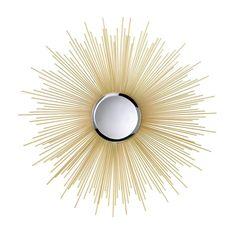 Golden Rays Sunburst Mirror, Yellow sunshine