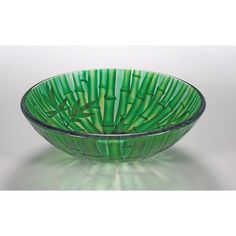 Legion Furniture Bamboo-inspired Glass Bowl Vessel Bathroom Sink