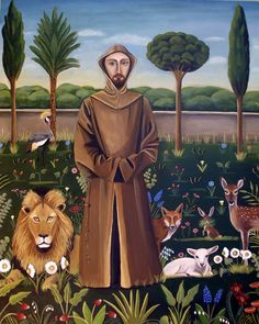 Catherine Nolin Art Studio: St. Francis Of Assisi-new painting