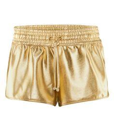 Golden shorts, H