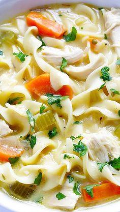 (Skinny!) Creamy Chicken Noodle Soup