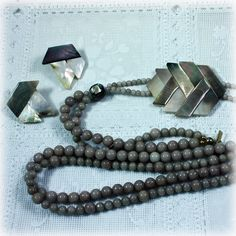 Karla Jordan Glass Bead Necklace and Pierced by JunkboxTreasures