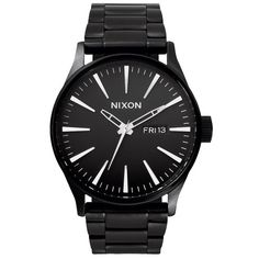 Nixon Mens Nixon Sentry Ss Watch - All Black Movement: Miyota Japanese quartz 3 hand with day and date