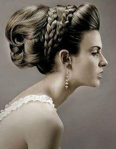 hair ideas bridesmaids wedding hair updos hair flowers hair veils hair jewelry hair styles medium length hair for wedding hair hair for guests Braided Hairstyles Updo, Grecian Hairstyles, Indian Wedding Hairstyles, Braided Updo, Bride Hairstyles, Pretty Hairstyles, Vintage Hairstyles, Greek Hairstyles, Bun Braid