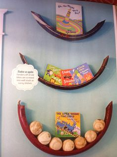 From Fleamarket Syle magazine. Old bicycle fenders used as shelves. Cute, clever, and curvy!