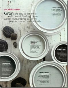 grays in paint cans