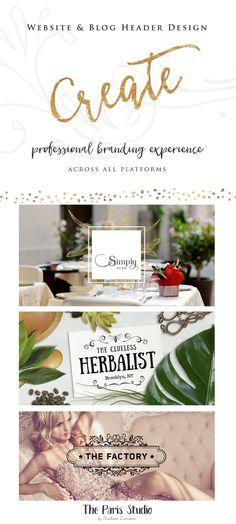 Wordpress Website Header Etsy Shop Cover Social Media Branding Design #LogoDesign #Wordpress #Website Header #boutique #Branding #restaurant #photography #ecommerce