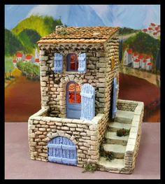 Santons Atelier de Fanny-Santons et Crèches de Noël-Santons de Provence - Maison de village n°3 - 54.00 EUR