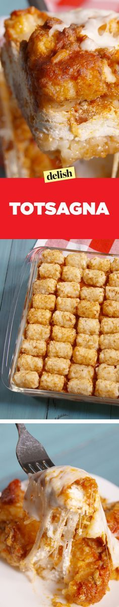 Totsagna is a tater tot lover's dream come true. Get the recipe on Delish.com.