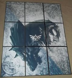 Twilight Princess Link Zelda Large Wall Art by IncognitoGeekery