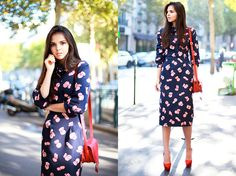 Get this look: http://lb.nu/look/4127230  More looks by Doina Ciobanu: http://lb.nu/doinaciobanu  Items in this look:  Doina Ciobanu Skirt Suit Of My Own Design, Chloé Red Mini Marcie, Charlotte Olympia Red Paloma Heels