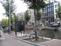 Male public toilet (yes, the green one), Amsterdam.