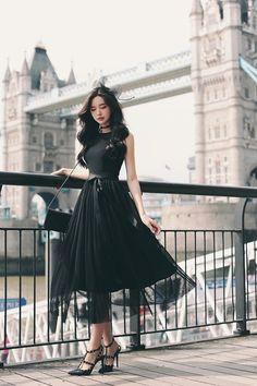 Korean Fashion Dress, Ulzzang Fashion, Korean Outfits, Asian Fashion, Fashion Dresses, Korean Clothes, Korea Fashion, Pretty Outfits, Pretty Dresses