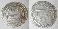 Madinat al-Salam or Baghdad Iraq Abbasid Silver Coin Al-Mansur Dirham 154 AH / 771 AD Very Fine