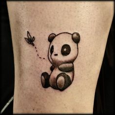 Cute panda tattoo. #tattoo #tattoos #ink