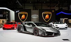 Only three unique units of the Lamborghini Veneno will be built and sold. Its design is consistently focused on optimum aerodynamics and cornering stability, giving the Veneno the real dynamic experience of a racing prototype, yet it is fully homologated for the road. With a maximum output of 552 kW / 750 hp, the Veneno accelerates from 0 to 100 km/h in just 2.8 seconds and the top speed for this street-legal racing car stands at 355 km/h