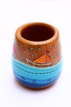 Painted Flower Pots, Painted Pots, Paper Mache Bowls, Flower Pot Crafts, Decoupage Art, Posca, Mexican Art, Wood Storage, Terracotta Pots