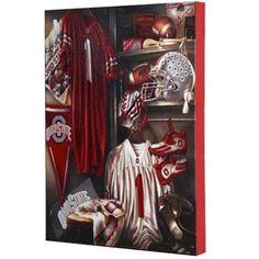 $25.00 Ohio State Buckeyes 13'' x 17'' Locker Room Canvas Print