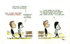 Dreaming about Moon - Zia P  Terra chiama Luna - comic strips  di Francesco Dibattista