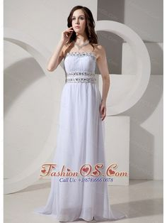 Empire Strapless Beaded Decorate Waist Sweep Train Sexy New Style 2013 Prom Gowns- $154.39  http://www.fashionos.com/     empire prom dresses for girls   prom dress with beaded waist   jane mccarry prom dress   jennie bond prom dress   strapless prom dress with floor length   janice forsyth prom dress  