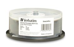 Verbatim 97284 50 GB 2x DataLifePlus White Thermal Hub Printable Blu-ray Double Layer Recordable Disc BD-R DL, 25-Disc by Verbatim. Save 67 Off!. $178.95. Create high quality, customized labels for your Double Layer BD-R discs with Verbatim White Inkjet Printable BD-R DL discs. These discs have been extensively tested for compatibility with inkjet disc printers from Primera, Microboards, Epson and more. With a storage capacity of 50GB, these are one-time record discs, ensuring that you...