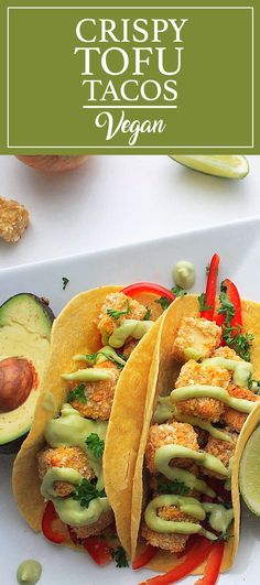 Crispy tofu tacos to celebrate #cincodemayo the vegan way! #cheese #vegan #mexicanfood