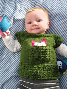 Petite Purls - Issue 13. Woodland Tee with owl pocket friend. Free pattern