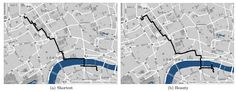 Forget the Shortest Route Across a City; New Algorithm Finds the Most Beautiful - interior design Math About Me, Smart City, Data Visualization, Interactive Design, Cartography, Computer Science, Most Beautiful, Beautiful London, Beautiful Life
